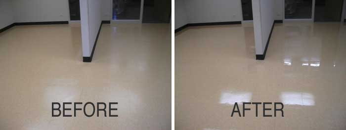 Strip and Wax before and after - Ottawa Clean Team